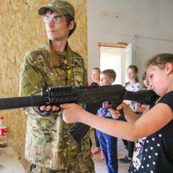 Детский квест со стрельбой